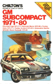 Chilton's Repair & Tune-Up Guide: GM Subcompact 1971-80