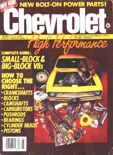 Hot Rod Magazine's Chevrolet High Performance             Vol. 1 No. 1